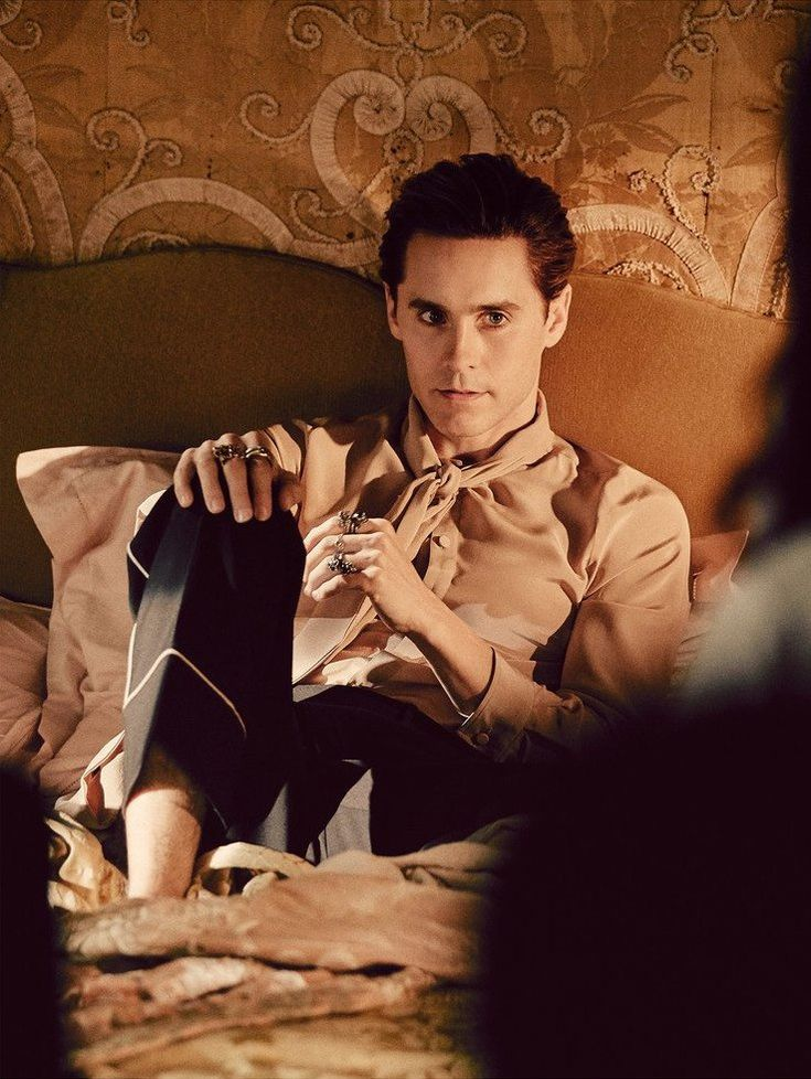 Jared Leto for Gucci. He looked amazing in this campaign!