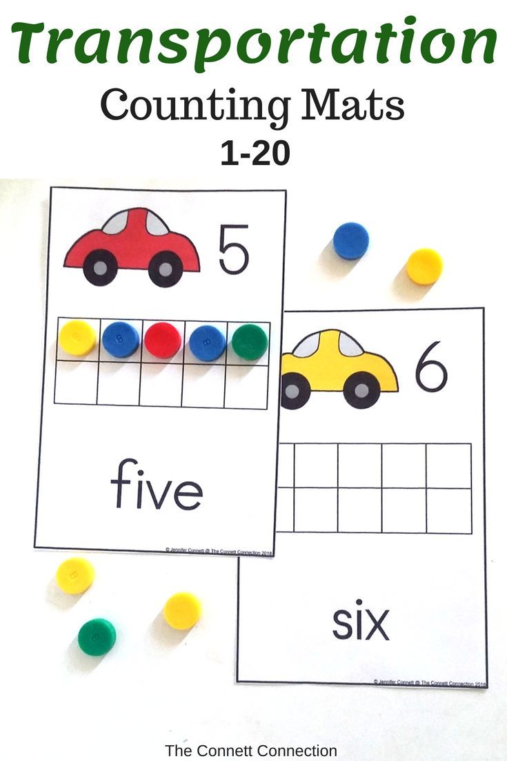 Transportation Counting Mats 1 20 With Cars Counting To 20 Counting Cards Creative Math [ 1102 x 735 Pixel ]