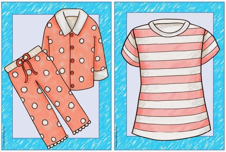 """Englisch in der Grundschule:: Flashcards zum Thema """"clothes/clothing"""""""