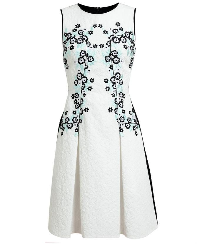 ERDEM | Adora Embroidered Matelassé Dress
