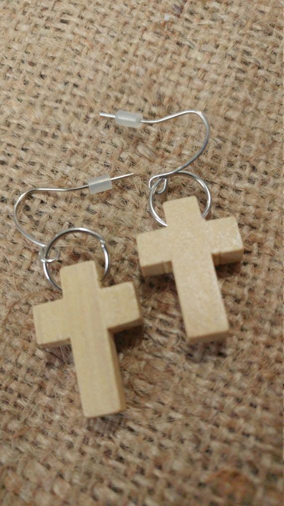 Simple Light Natural Wooden Cross Dangle Earrings  #wood #cross #sunday #church #Christ #jesus #god #Christian #Nazarene #bible #mom #mothersday #etsy #handmade #earrings #etsyshop #oregonmade #oregoncoast #Oregon #madeinoregon #coastalliving