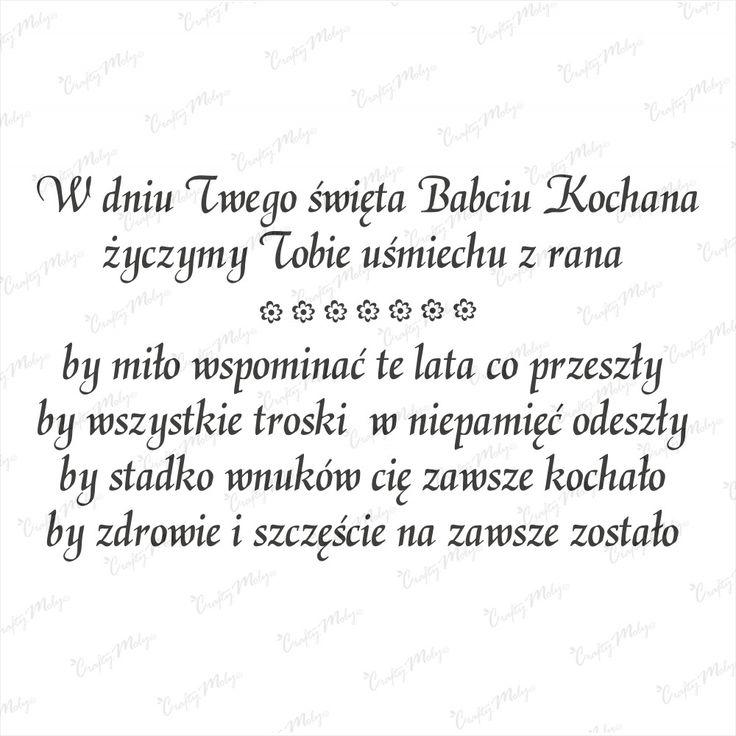 Stempel tekst dla Babci 1 CM Na-Strychu