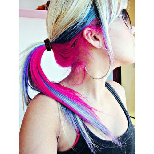 #hair #color #pink #blue #blond