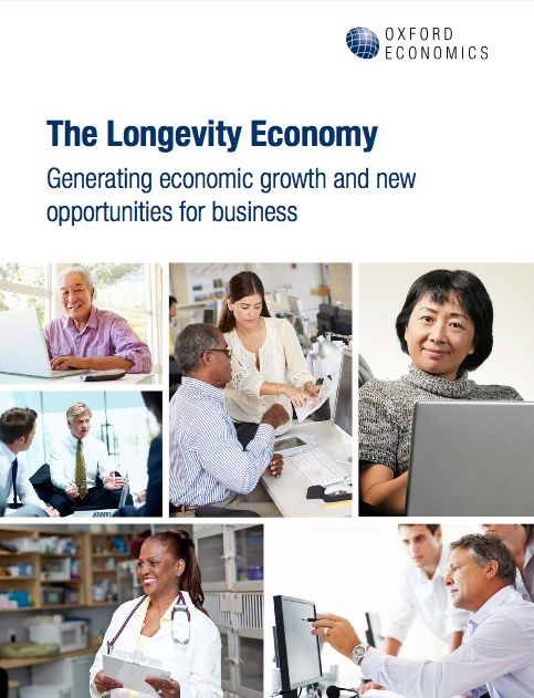 Oxford Economics in cooperation with AARP produced a report that combines available data with new economic modeling to show the growing Longevity Economy's contribution to the workforce and unprecedented consumer power. 'The Longevity Economy – Generating economic growth and new opportunities for business' sums all economic activity serving the needs of Americans over 50 and including both the products and services they purchase directly and the further economic activity this spending…