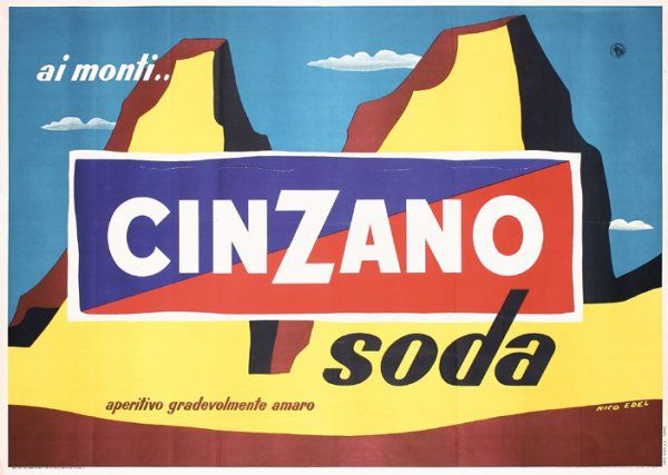 23: Old Original Cinzano Soda Poster : Lot 23