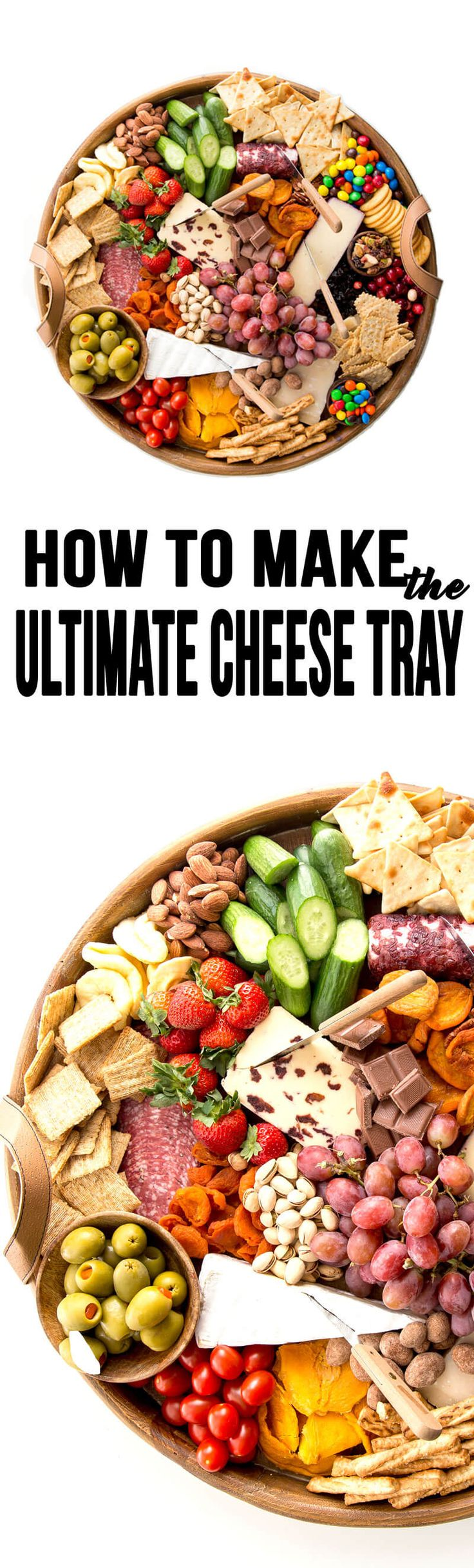 The Ultimate Cheese Tray just in time for the holiday parties! Your holiday won't be complete without this! #cheesetray #cheeseboard #cheese #chocolate #holidayfood #holidaysnack #food