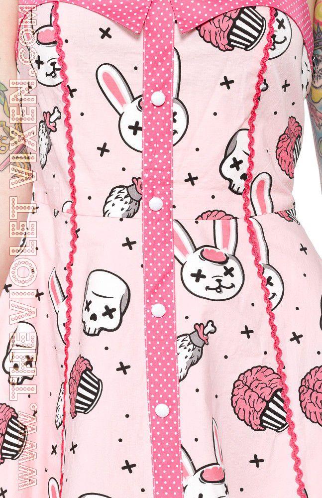 The Violet Vixen - Zombie Bunnies Peggy Dress, $52.00 (http://thevioletvixen.com/clothing/dresses/zombie-bunnies-peggy-dress/)