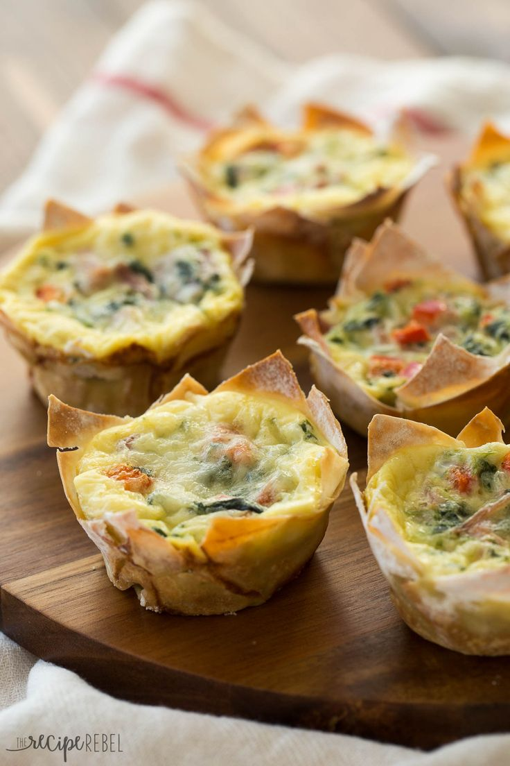 Wonton wrappers make these mini wonton quiche so quick and easy! The perfect…