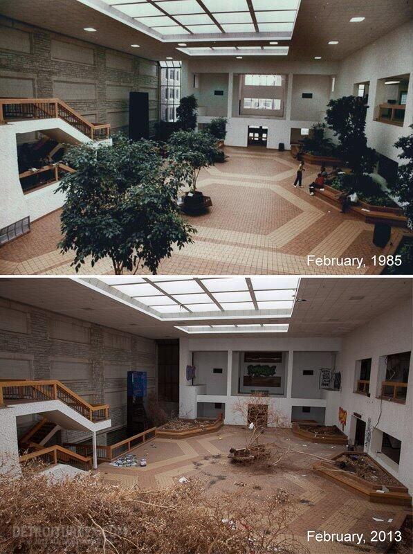 An abandoned community college: Then and now. | Abandoned ...