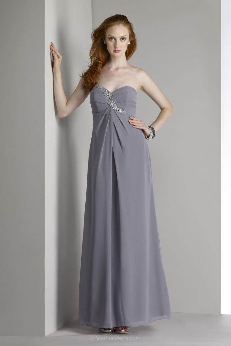 28 best chiffon bridesmaid dresses images on pinterest a line strapless charcoal a line long bridesmaid gown with sweetheart bodice ombrellifo Images
