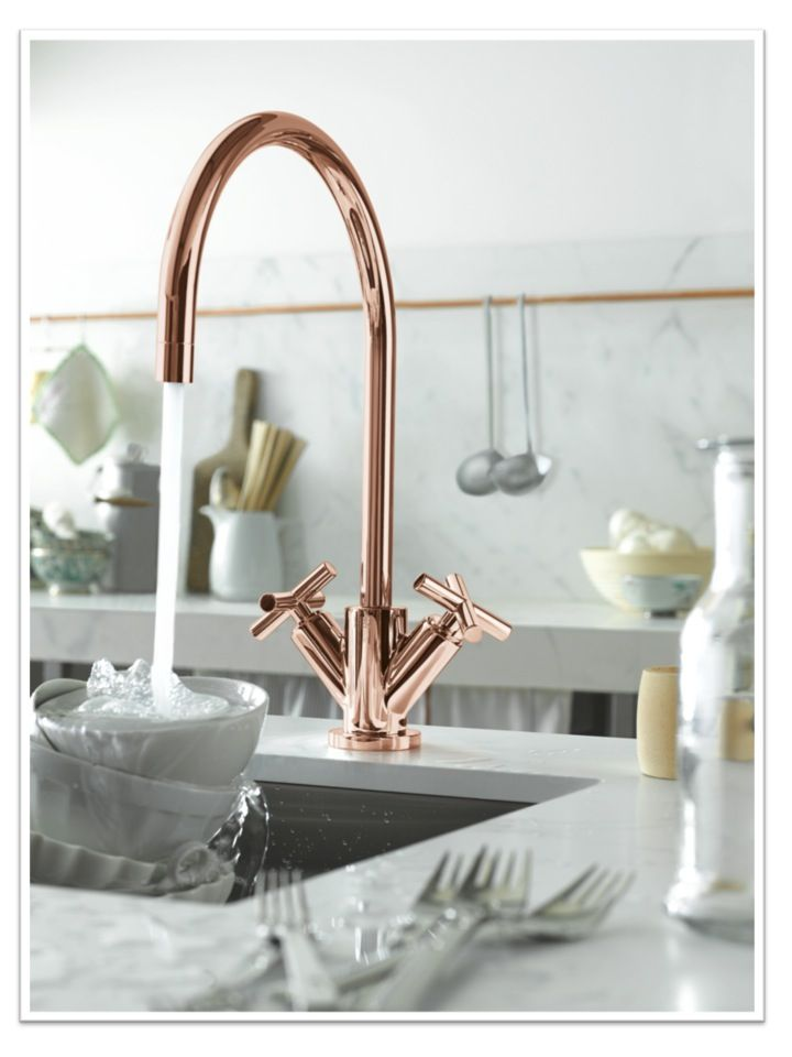 kitchen tap copper