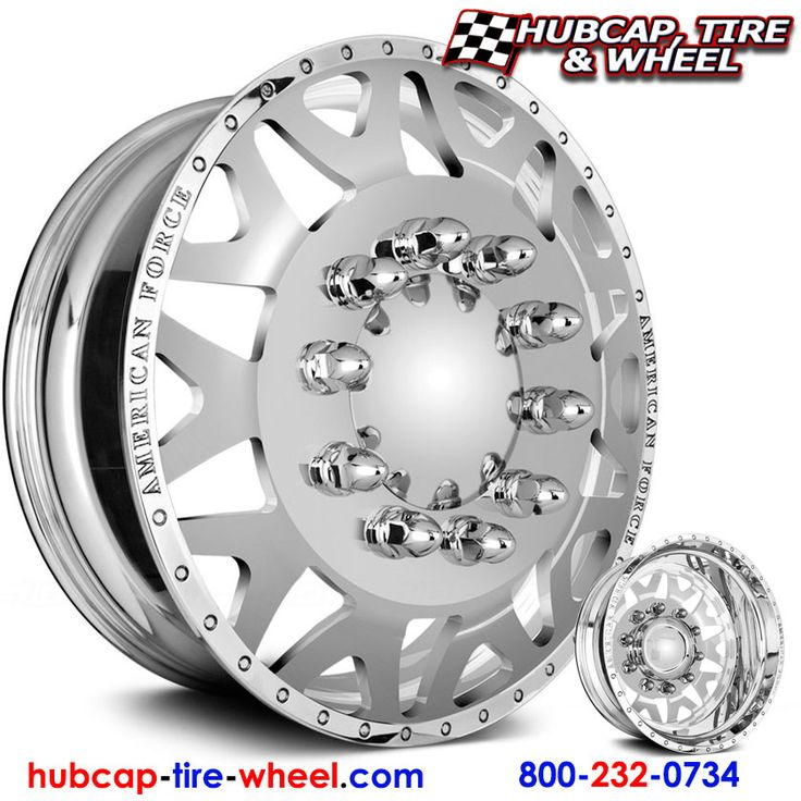 American Force Baus Dually Wheels & Rims - Polished (not chrome) - FREE shipping.