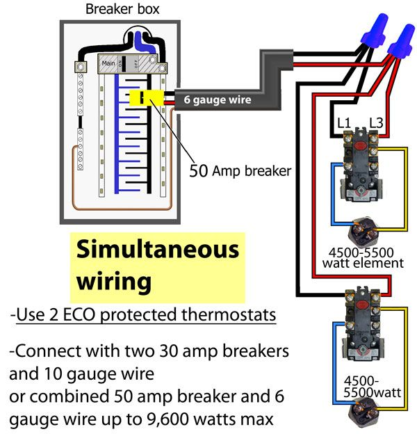 Thermostat Simultan Wir Di Diagram Kabel Untuk Air Panas Rheem In 2020 Water Heater Thermostat Hot Water Heater Water Heater Repair