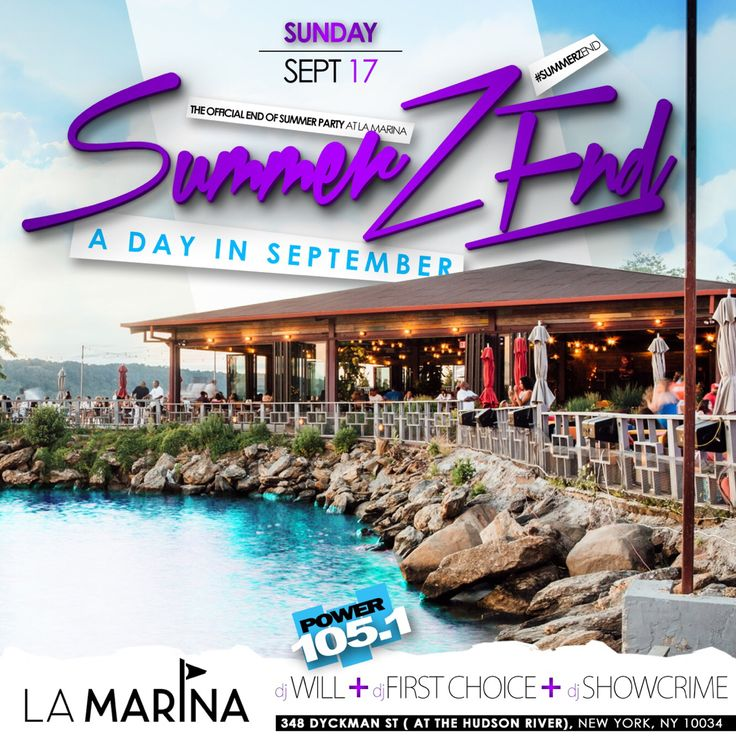 Party at La Marina September 17th !!  — LAST DAY to purchase tixs for Sunday September 17th #besteffendayparty #SummerFest @lamarinanyc Hosted by @mrcommodore #MrCommodore Music by @djshowcrime @djfirstchoice @djwill of Power 105  #Tickets will sell out as it normally does ! see you there !! Early bird tixs on sale now !! ONLY (Click The Link Below for Your Ticket🎟) Doors Open From 3pm - 10pm
