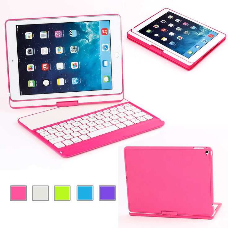 360 Degree Rotating Stand ABS Keyboard Case Cover For iPad Air 2/iPad 6 Tablet #