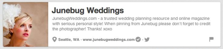 Junebug Weddings | The 25 Best Pinterest Accounts To Follow When Planning Your Wedding on My Pinterest Wedding http://www.pinterest.com/joannamagrath/my-pinterest-wedding