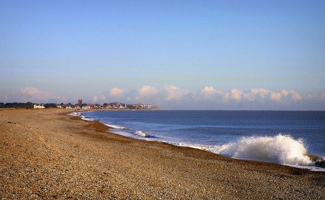 Beach at Aldeburgh Looking Towards Thorpness
