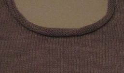 Narrow Rolled Neckband Finish for a Round Neck, free how-to PDF