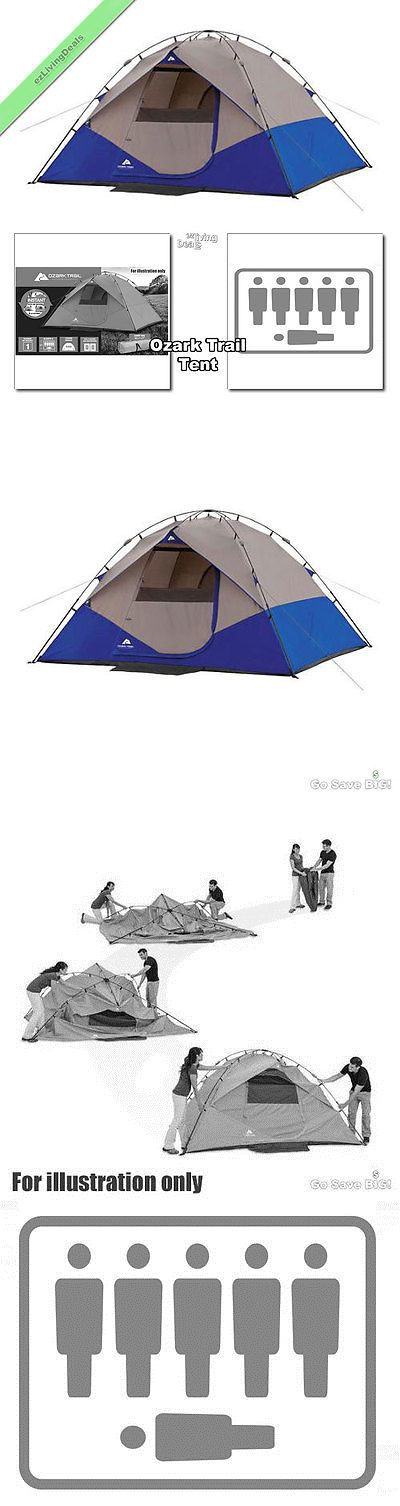 Tent and Canopy Accessories 36120: Ozark Trail Tent 6 Person 10X9 Outdoor Camping Family Instant Dome Tents, Blue BUY IT NOW ONLY: $93.07