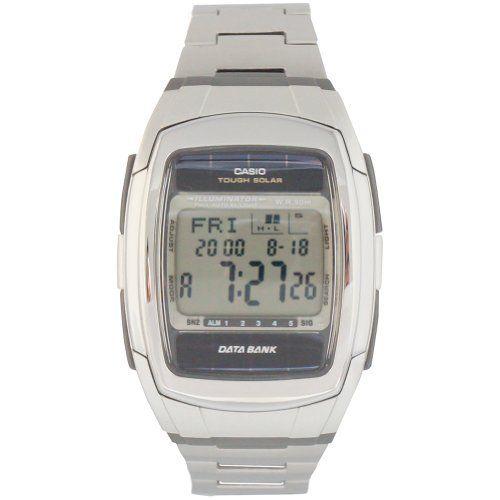 Casio DataBank Solar Power Watch DBE30D-1AV - http://www.the-solar-shop.com/casio-databank-solar-power-watch-dbe30d-1av/