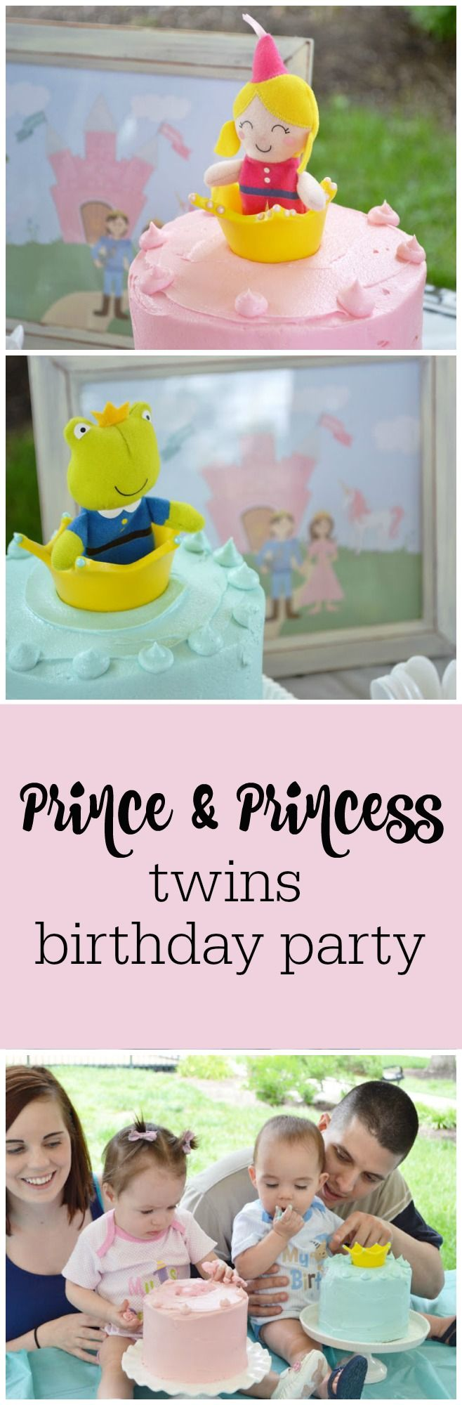 Prince and princess first birthday party for twins by Sunny by Design featured on The Party Teacher | http://thepartyteacher.com/2013/07/16/guest-party-boy-girl-twins-first-birthday-party/