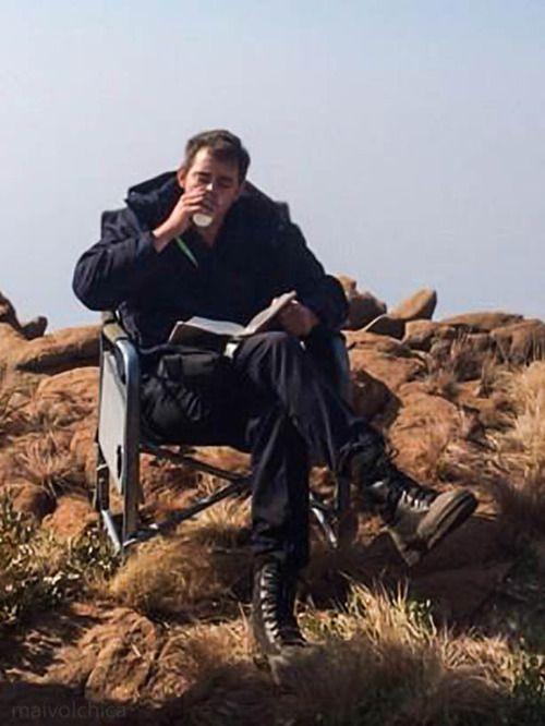 """In between filming """"Prisoner Of War"""" Johannesburg, October 2014."""