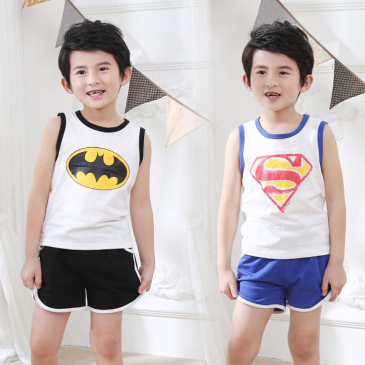 >> Click to Buy << boys cothing sport set kids summer spiderman children cotton superman suit sleevelessvest suits baby names for boys unique #Affiliate