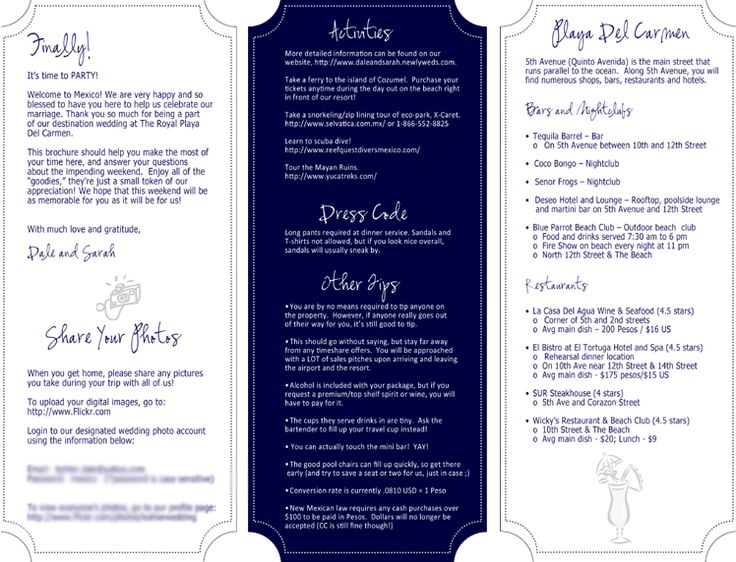 16 best Wedding Welcome Bags images on Pinterest Wedding - wedding weekend itinerary template