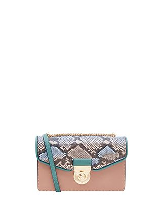 Small but mighty, our Cassie cross-body bag is sure to be the outfit-maker in your collection. It features a flash of snake print on a stylish colour-block d...