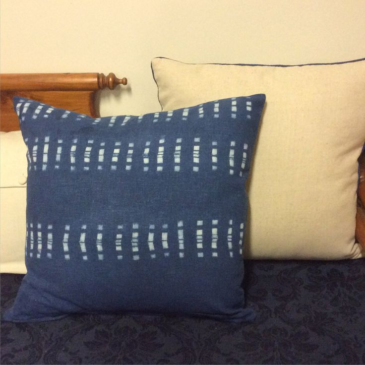 Cushion Cover completed in Shibori Workshop