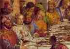 The Marriage at Cana (detail of Guests at Table)...shows Veronese's love of luxury