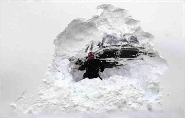 Tavasz?  Milyen tavasz? Rekord mennyiségű hó esik Szibériában