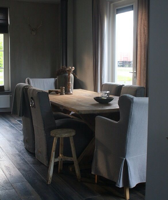 rustic dining - love grey with natural pine