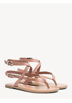 58739e671 TOMMY HILFIGER Flat Strappy Sandals - SILKY NUDE - TOMMY HILFIGER Flat  Sandals - main image