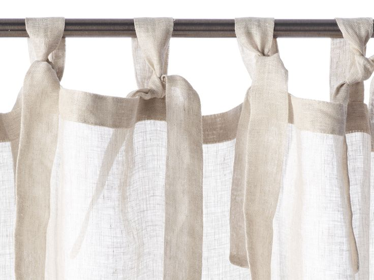 Casper - sheer linen tie top curtains from Libeco Home Stores