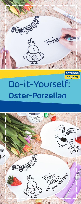 Do It Yourself Susses Osterporzellan Selbst Gestalten Ostern