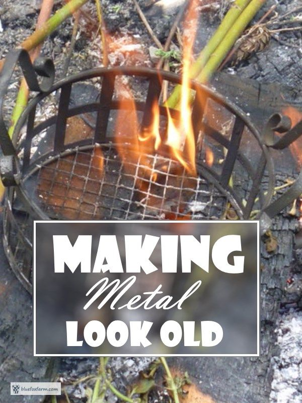 Making Metal Look Old; patina, aging and rusticating... Rustic Garden Art | Rustic Crafts