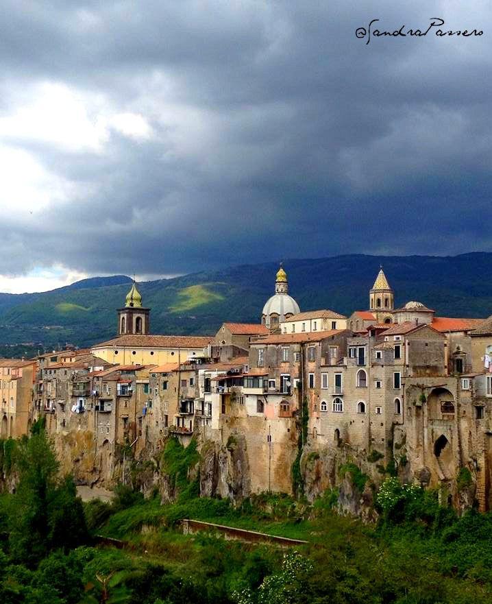 panorama of sant 39 agata de goti benevento campania italy