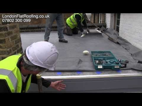EPDM Rubber Roof Over New Insulation New Warm Roof - YouTube