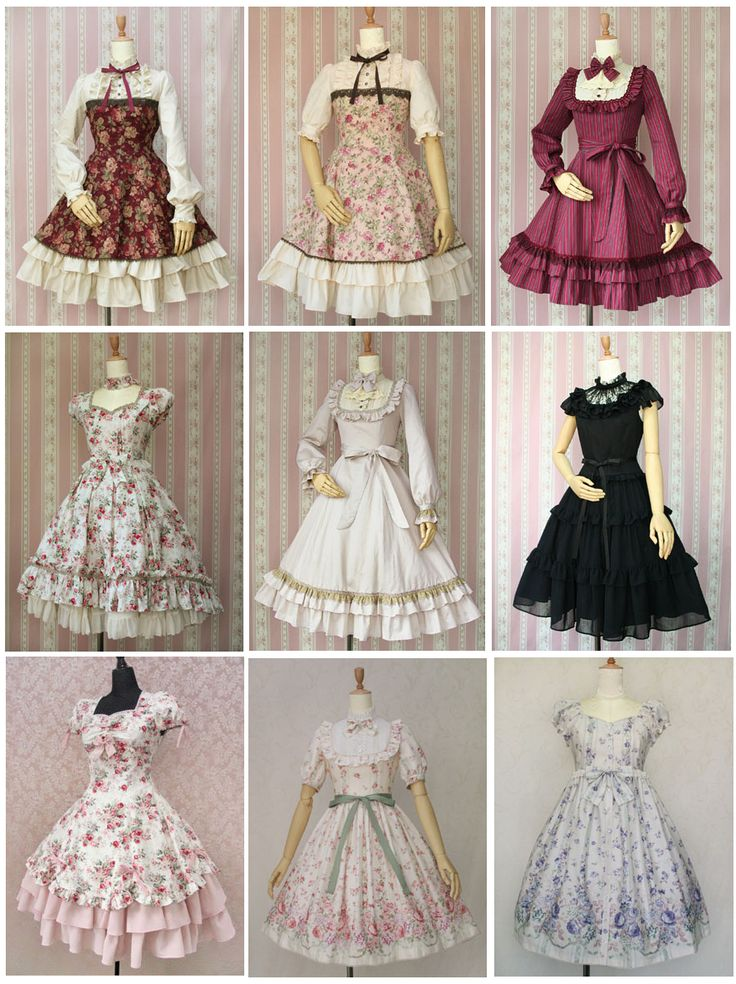 I CAN'T JUST PICK ONE, I LOVE THE FLOUNCY BEAUTY OF THESE VINTAGE DRESSES ~ NOW I NEED TO GO PATTERN HUNTING.......:)