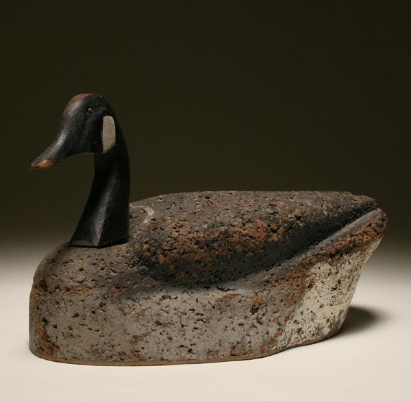 Hoosier Made Cork & Wood Goose Decoy