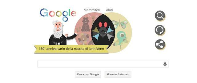Il doodle di Google per John Venn - Il Post
