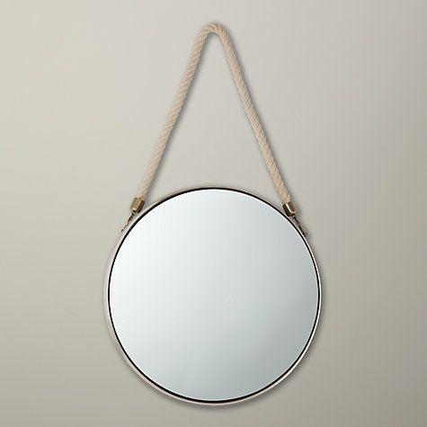 Buy John Lewis Porthole Mirror, 38 x 38cm, Silver Online at johnlewis.com