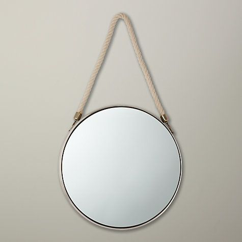 Buy John Lewis Porthole Mirror, 38 x 38cm, Silver Online at johnlewis.com