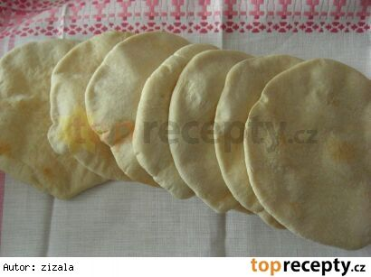 Pita chleby 500 g hladké mouky (125 g můžete nahradit celozrnnou) 300 ml vody 2 lžíce olivového oleje 1 lžička soli 1/2 lžičky cukru 2 lžičky sušeného droždí nebo 1/2 kostky čerstvého  Náplň podle chuti: šunka sýr salát rukola dresinky rajčata cottage sýr