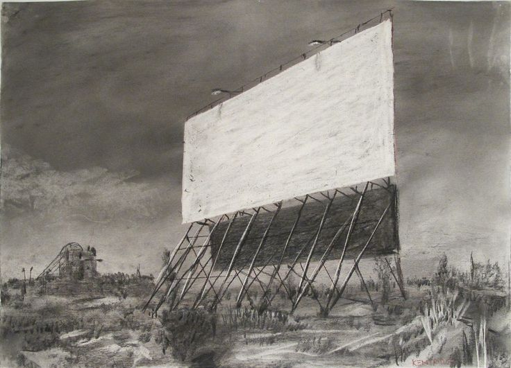 William Kentridge, Drawing for Other Faces (Drive in Screens) 2011
