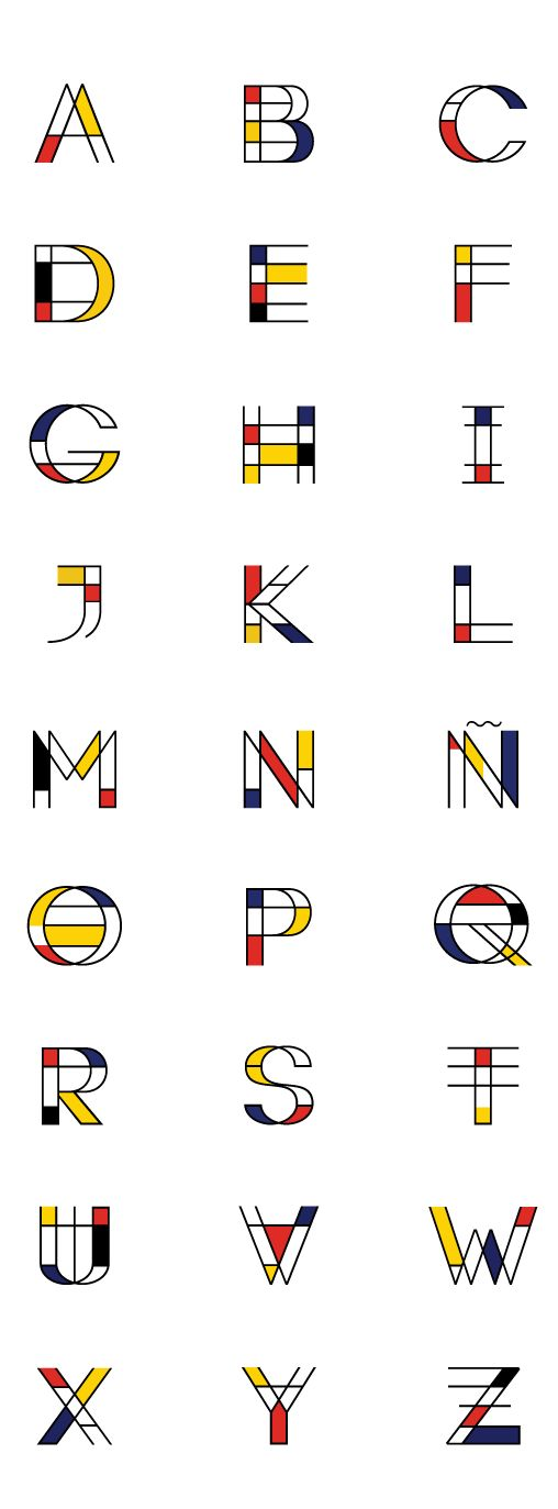 Mondrian | Free Font on Behance Más