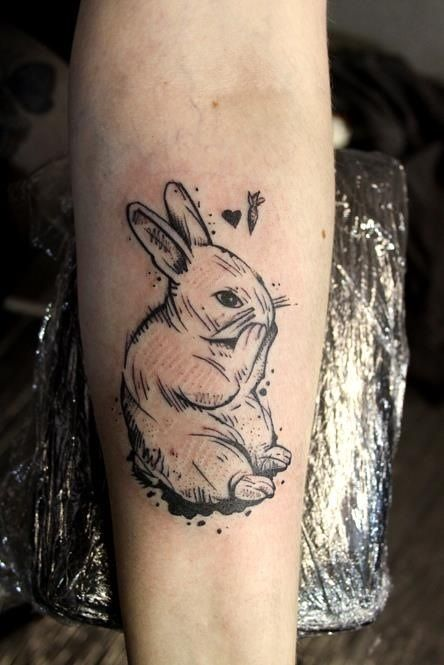Sketch style rabbit done by Arther Optera