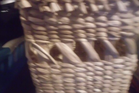 Detalle canasto totora