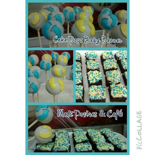 Cake Pops Baby Shower y Mini Brownies